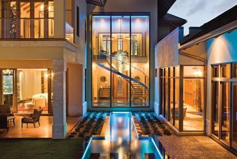 Acqua liana la casa di lusso super ecologica